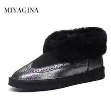 Gros Haute Qualité Femmes Classique Mini Bottes de Neige Véritable peau de mouton Chaud Chaussures D'hiver réel laine femmes cheville bottes