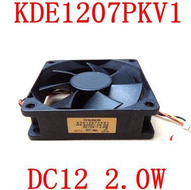 Bezmaksas piegāde oriģinālā SUNON 7020 70x70x20mm 7cm 12V 2.0W KDE1207PKV1 3PIN Optoma ātruma mērīšanas projektoru ventilators