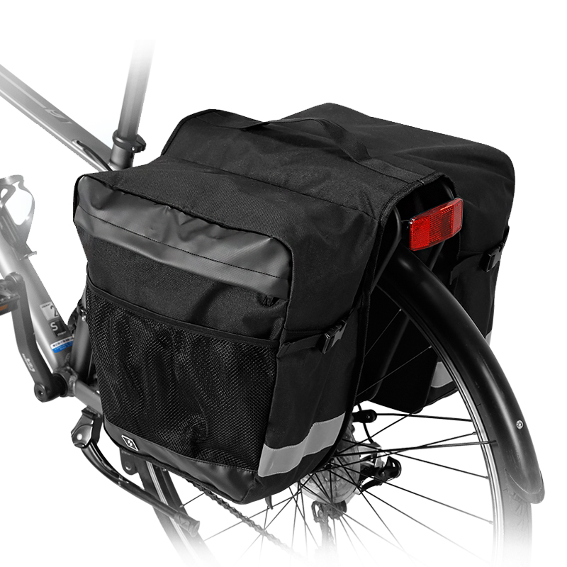 ROSWHEEL Sahoo Series 142004 2 in 1 Mountain Road Bicycle Bike Trunk Bags Cycling Double Side Rear Rack Tail Seat Pannier roswheel mtb mountain bike rear seat bags 37l 3 in 1 multifunction road cycling bicycle pannier trunk bag 2 colors