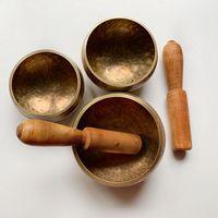 Copper Tibetan Singing Bowls Hand Hammered Yoga Relaxation Meditation Chakra Sound Spiritual Healing Bowls Buddhist 1pc