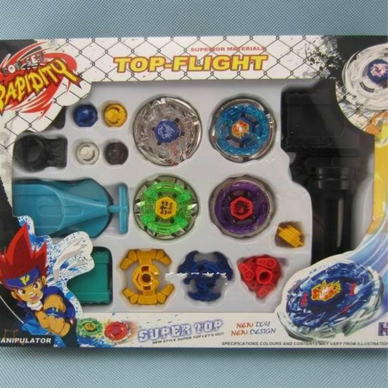 Retail 1Pcs Kids Beyblade Spinning Tops New Metal Fight Fusion Top Rapidity Fight Master Rare Beyblade