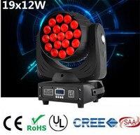 LED 19x15 W RGBW beam לשטוף/זום אור מקצועי DJ/DMX512 המכונה בר LED שלב אור LED זום Beam הזזת ראש האור