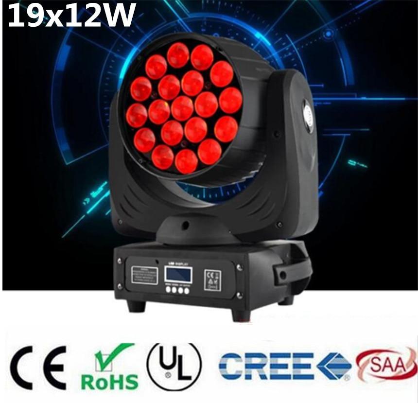 LED 19x15W RGBW beam Wash/Zoom Light Professional DJ/Bar LED Stage Machine DMX512 Light LED Zoom Beam Moving Head Light qfn64 mlf64 burn in socket ic test socket ic550 0644 006 g pitch 0 5mm chip size 9 9 flash adapter clamshell programming socket