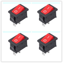 Hot 50pcs AC125v  250V 6A  10A  2 Pin ON/OFF I/O SPST Snap in Mini Boat Rocker Switch