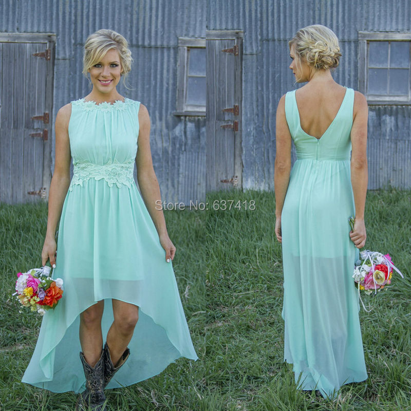 Hi Low Bridesmaid Dres...