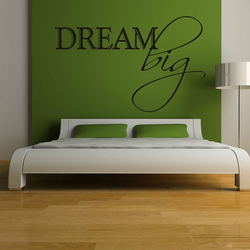 Dream Big Simple Waterproof Removable  Wall Decals Vinyl Stickers Home Decor For Bedroom
