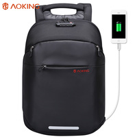 Aoking Multifunctional TSA Lock Luggage Men Backpack With External USB Charge Fit 15 6 Men Fashion