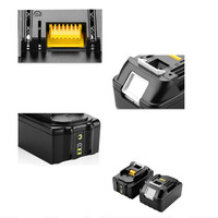 New 18V 6000mAh Replacement Batteries for Makita BL1850 LXT400 BL1840 194230 4 BL1830 Li ion Power Tools with Import cells