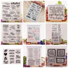 Wishes Words phrases Transparent Clear Silicone Stamps for DIY Scrapbooking Card Making Kids Fun Decoration Supplies(China)
