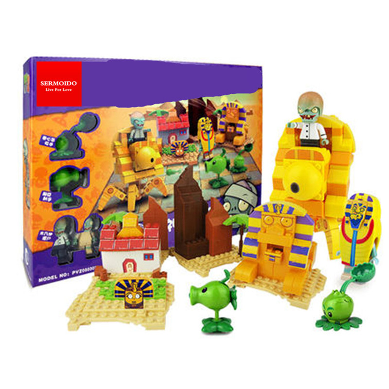 все цены на Plants Vs Zombies Garden Maze Struck Game Building Blocks Bricks Like Lepin Figures Minecraft Toys For Children Gift XD54 онлайн