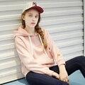 Adolescentes sudaderas hoodies flojos grandes tamaño 2016 busto es 100 ~ 112 cm de invierno superior gruesa