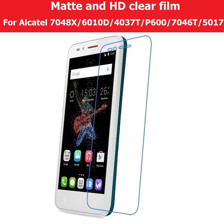 HD Clear Glossy Film For Alcatel OneTouch Go Play <font><b>7048X</b></font> Star 6010D Evolve2 4037T TCL Snap P600 Conquest 7046T Elevate Matte Film image