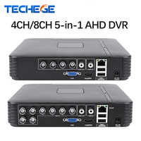 Techege 4 Canali 8 Canali AHD DVR AHD-M 720 P/960 H CCTV DVR 4CH 8CH Mini Ibrida HDMI DVR Supporto IP Analog AHD Fotocamera P2P