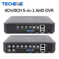 Techege 4 Channel 8 Channel AHD DVR AHD M 720P/960H CCTV DVR 4CH 8CH Mini Hybrid HDMI DVR Support IP Analog AHD Camera P2P
