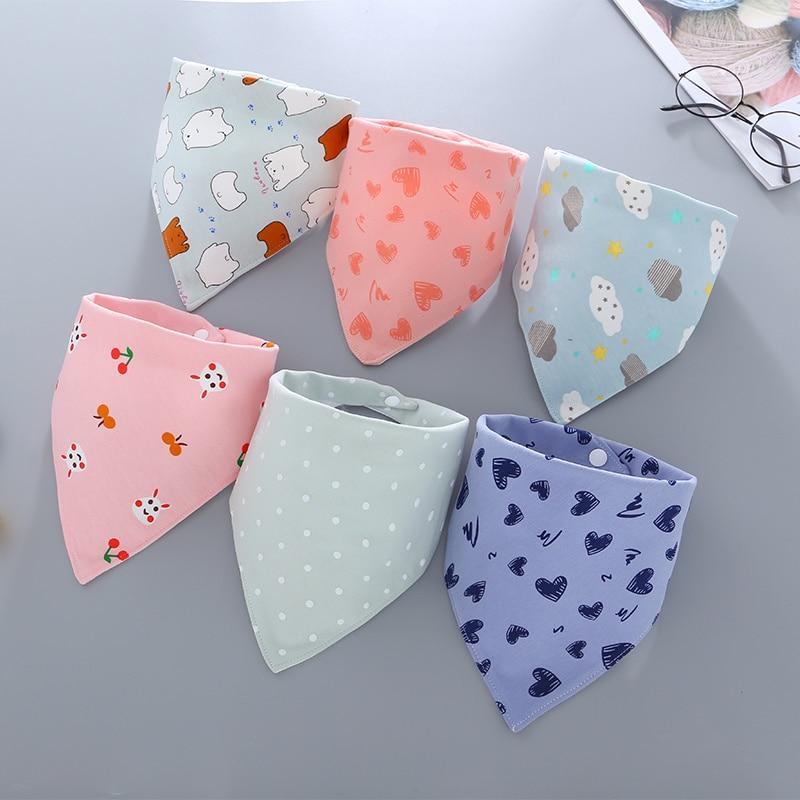 Baby Bibs Waterproof Triangle Cotton Bandana Bibs Double-layer Child Baberos Dribble Bibs Newborn Slabber Absorbent Cloth