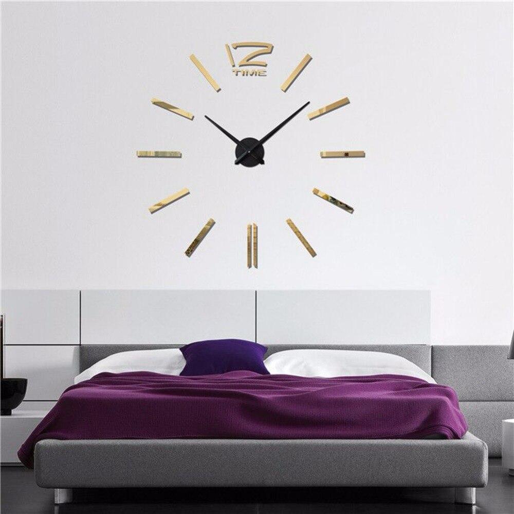 Satisfacer Jo 3D superficie del espejo del reloj colgante de pared ...