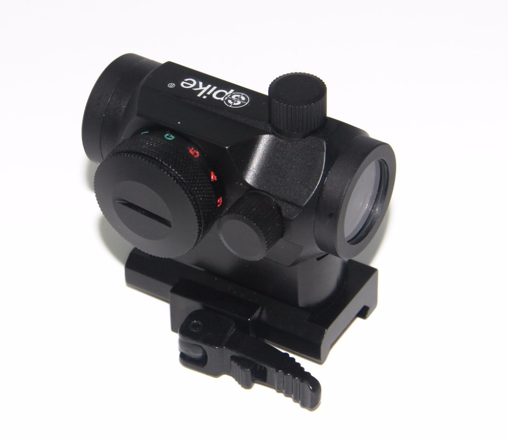 ФОТО Airsoft Hunting Tactical Micro 1x24 Reflex Red Green Dot Sight Rifle Scope With Quick Release Detachable Rail Mounts