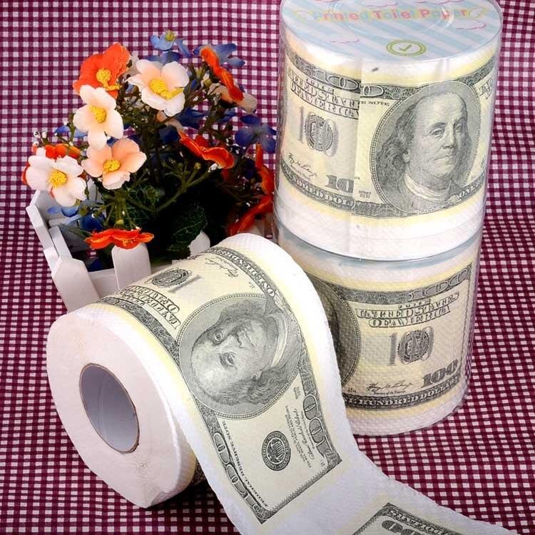 3packs 30m/pack 2Ply Money 100 dollar theme napkin Roll Dollar Bill ...