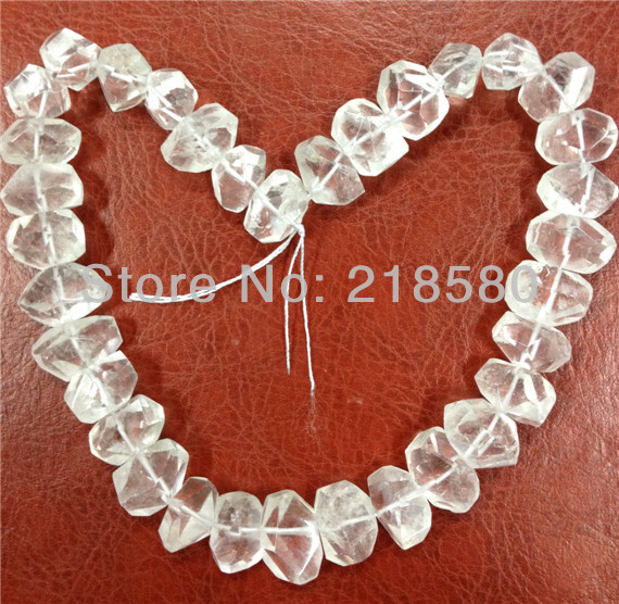 H-CCB02 Faceted Clear Quartz Crystal Nugget Beads Hot Natural Stone Beads Approx 15mmx20mm 16inch