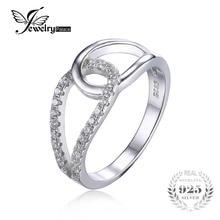 Jewelrypalace 925 cubic zirconia teardrop diseño de joyería fina mujeres anillo de bodas anillo de la venda de moda entretejen