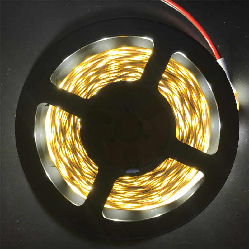 Lumière de bande de LED 12 V 5 M 300 LED s SMD 3528 bande de Diode rvb et couleurs simples haute qualité ruban LED lumières de décoration de maison flexibles