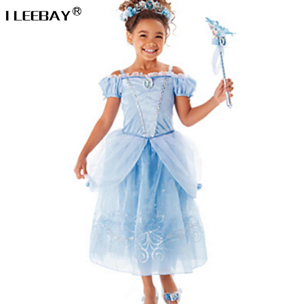 e5313588c Detail Feedback Questions about Sofia Cinderella Rapunzel Belle Snow White  2017 Girls Kids Short Sleeve Princess Dresses Up Teenage Party Dress Cosplay  ...