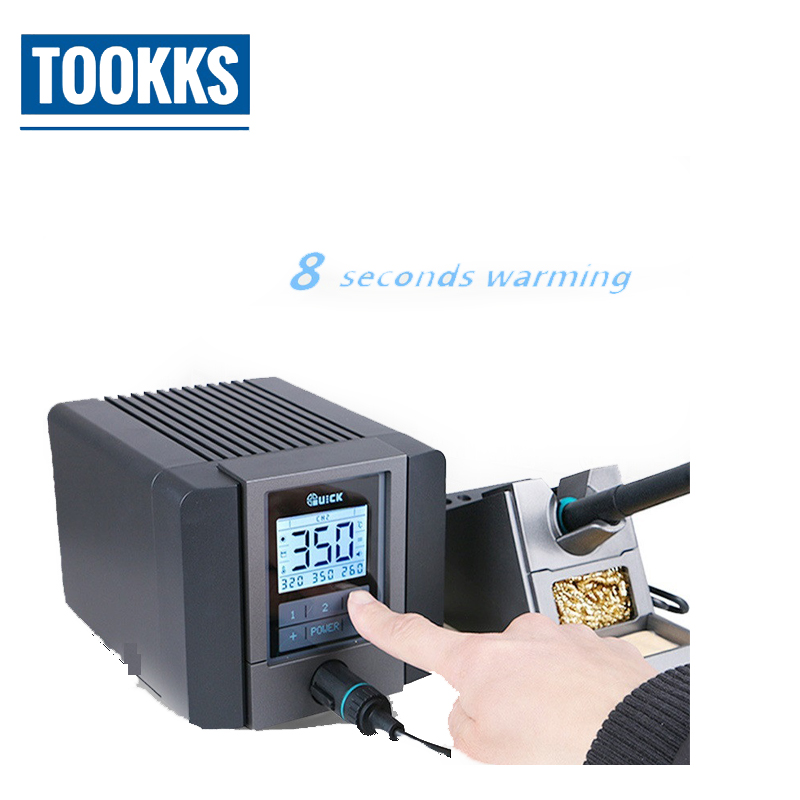 QUICK TS1200A intelligent touch lead free soldering station 220V 120W welding machine bga rework station