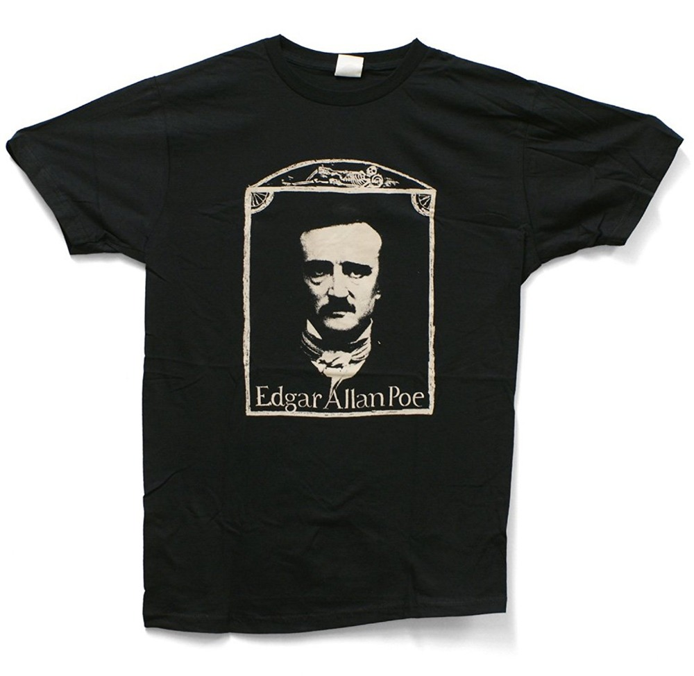 Funniest T Shirts Ever Crew Neck Short Sleeve Impact Edgar Allen Poe Compression T Shirts For Men ...