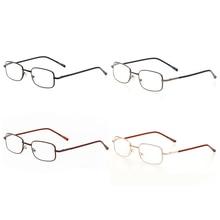 1a73ed55fc Fashion Metal Eyeglasses Frame Rectangle Presbyopia Hyperopia Old Man  Reading Glasses 100-400 Degree(