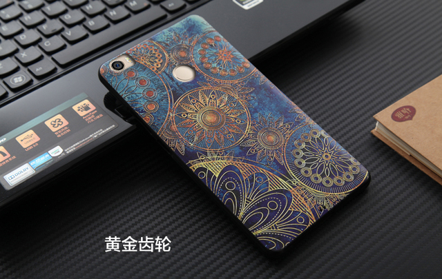 For Xiaomi Mi Max Case Silicon Soft Back Cover For Xiaomi Mi Max Soft Phone Protection Bag 3D Relief Painting Capa Shell