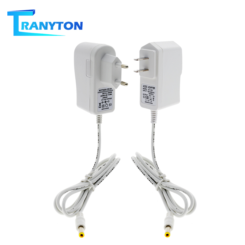 DC12V Power Adapter White Shell AC100-240V Lighting Transformers Output 12V 1A / 3A Power Supply Converter For LED Strip Light