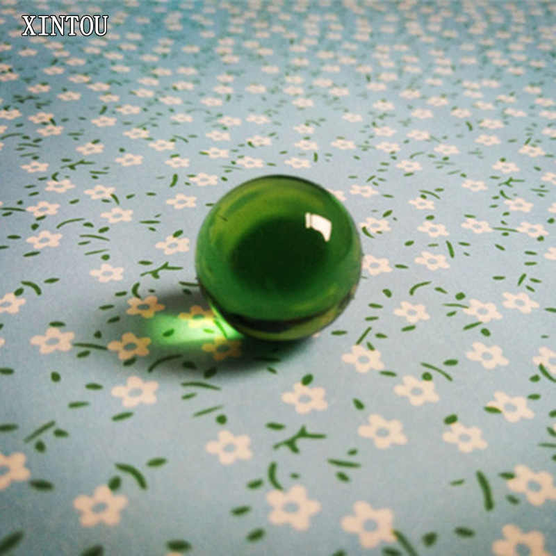 XINTOU Crystal Sphere Ball 3 cm Green Mini Child Globe Toy Balls Feng shui Home Decorative Water Fountains Glass Marbles Balls