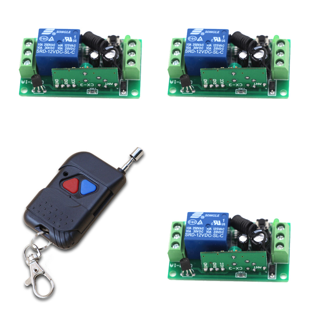 New 24V 9V 12V 1CH Wireless Remote Control Switch System, Gate Door Opener Operator Remote Control Relay Switch, Automatic