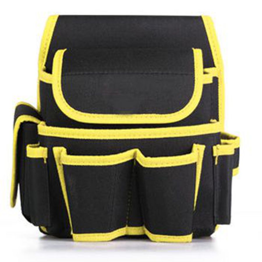 Small Size Utility Multi Funtional Tool Bag Electrician Thickened Wearable Oxford Tool Bag Cloth Pouch Storage Bag