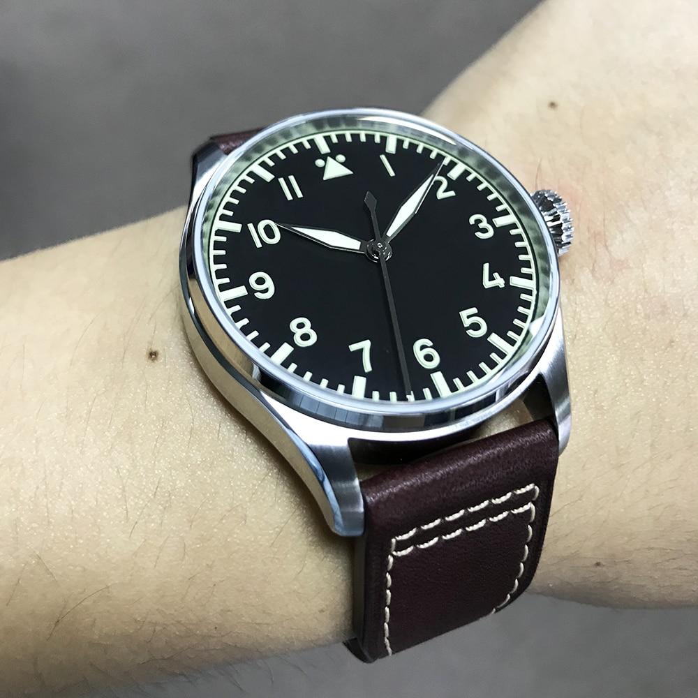 San Martin Fashion Stainless Steel pilot Watch 100 Water Resistant Swiss eta2824 Self-Wind Wristwatch Automatic Watches for men