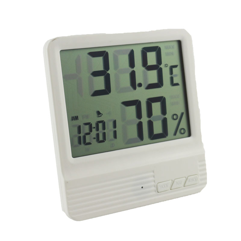 New Indoor Thermometer Hygrometer Alarm Clock LCD Digital Display Temperature Humidity Meter for Home Replace HTC-1 Upgrade digital indoor air quality carbon dioxide meter temperature rh humidity twa stel display 99 points made in taiwan co2 monitor