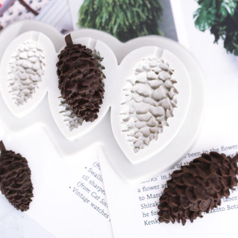 DIY Pine Cone Silicone Mold Fondant Cake Decorate Chocolate Sugarcraft Mould CA