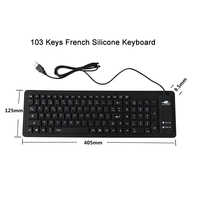 8 Silicone Keyboard French