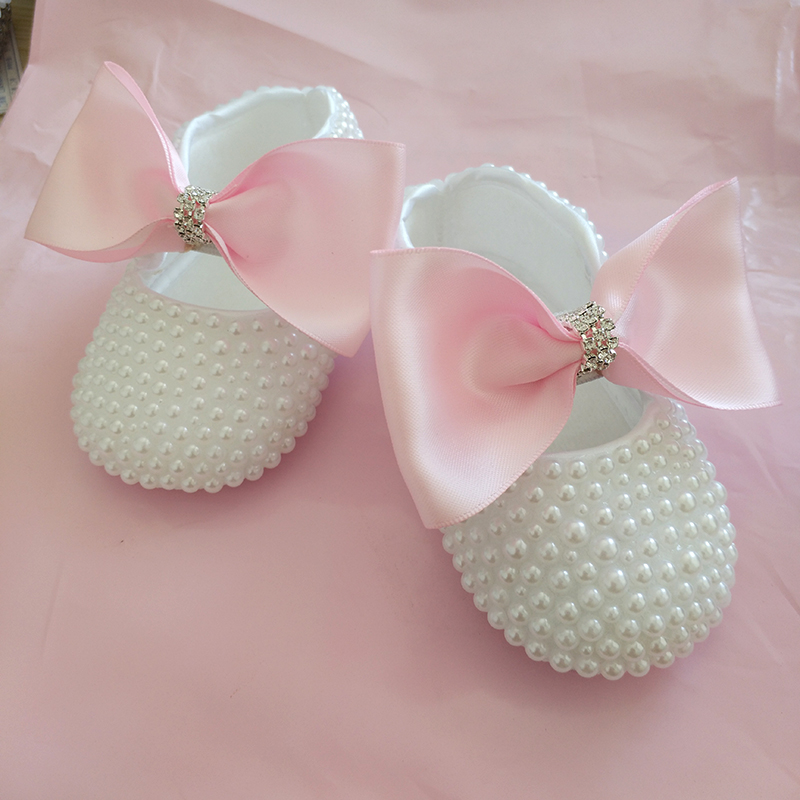 free shipping princess rhinestone pearl baby Shoes handmade baby toddler bling shoes lovely fashion baby girl shoes baby accesso hotapei sexy black v neck lace up cover up dresses lc42090 women 2018 new beach dress hollow out crochet tunic beachwear vestido