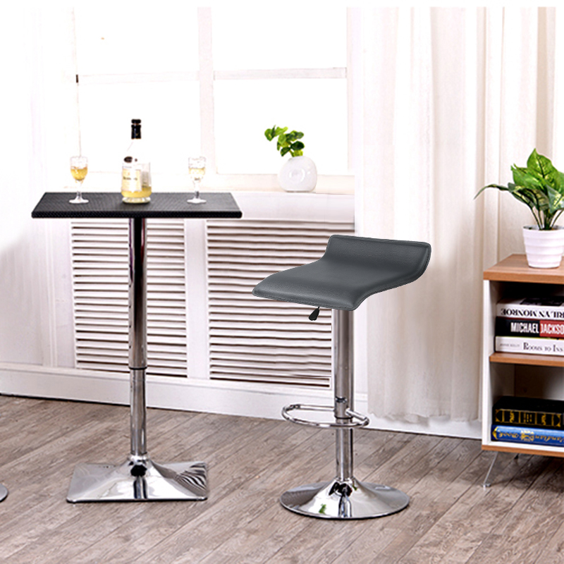 2Pcs/set Six European Style Bar Stool Modern Minimalist High Bar Chair Leather Swivel Bar Stools Height Adjustable Chairs HWC