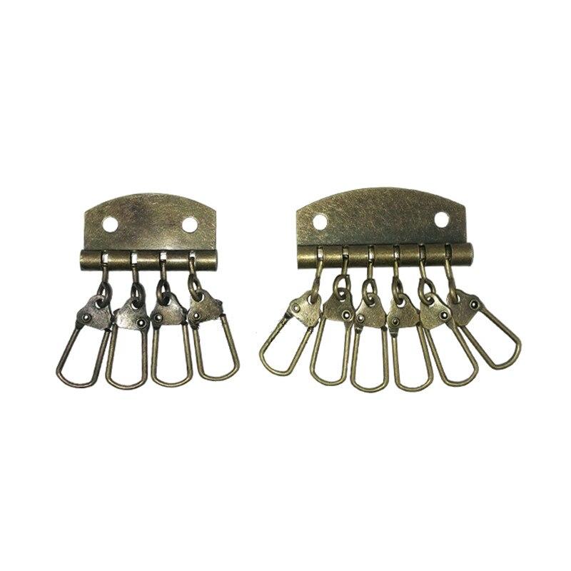 Бронзовая тон связка для ключей, для DIY аксессуаров