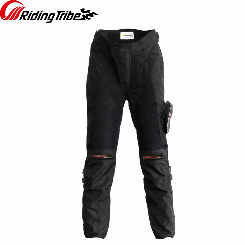 цена на Riding Tribe Motorcycle Pants Summer with Protective Kneepads Breathable Motorcross Anticollision Moto Riding Trousers HP-02
