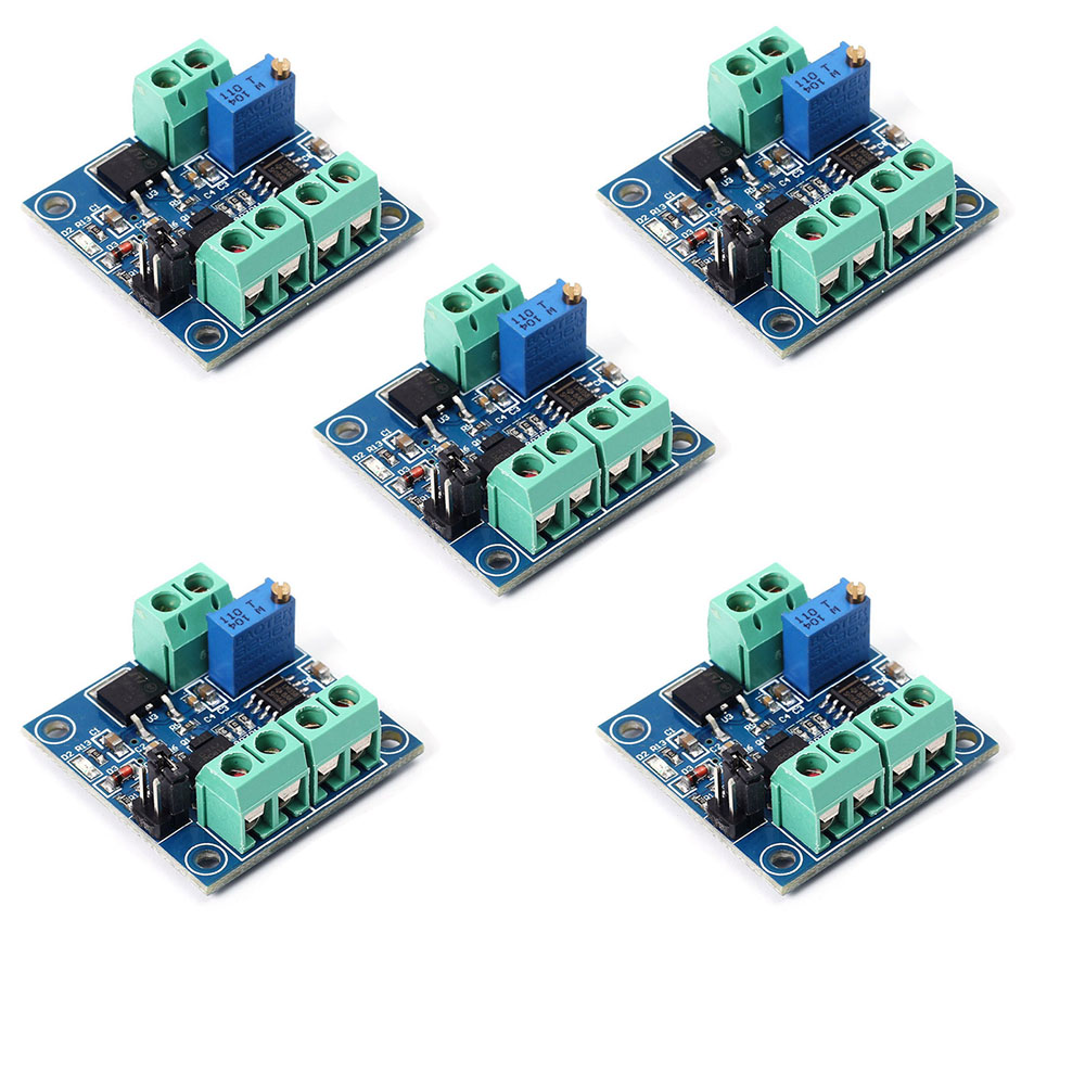 5PCS PWM To Voltage Converter Module 0%-100% To 0-10V For PLC MCU Digital To Analog Signal PWM Adjustabl Converter Power Module