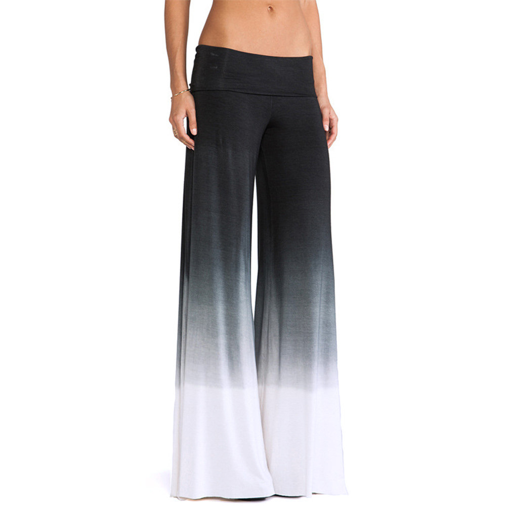 2018 Women's Clothing Winter Casual Elastic   Pants   Length Trousers Casual   Wide     leg     pants   Loose With Pockets Pantalons pour dames