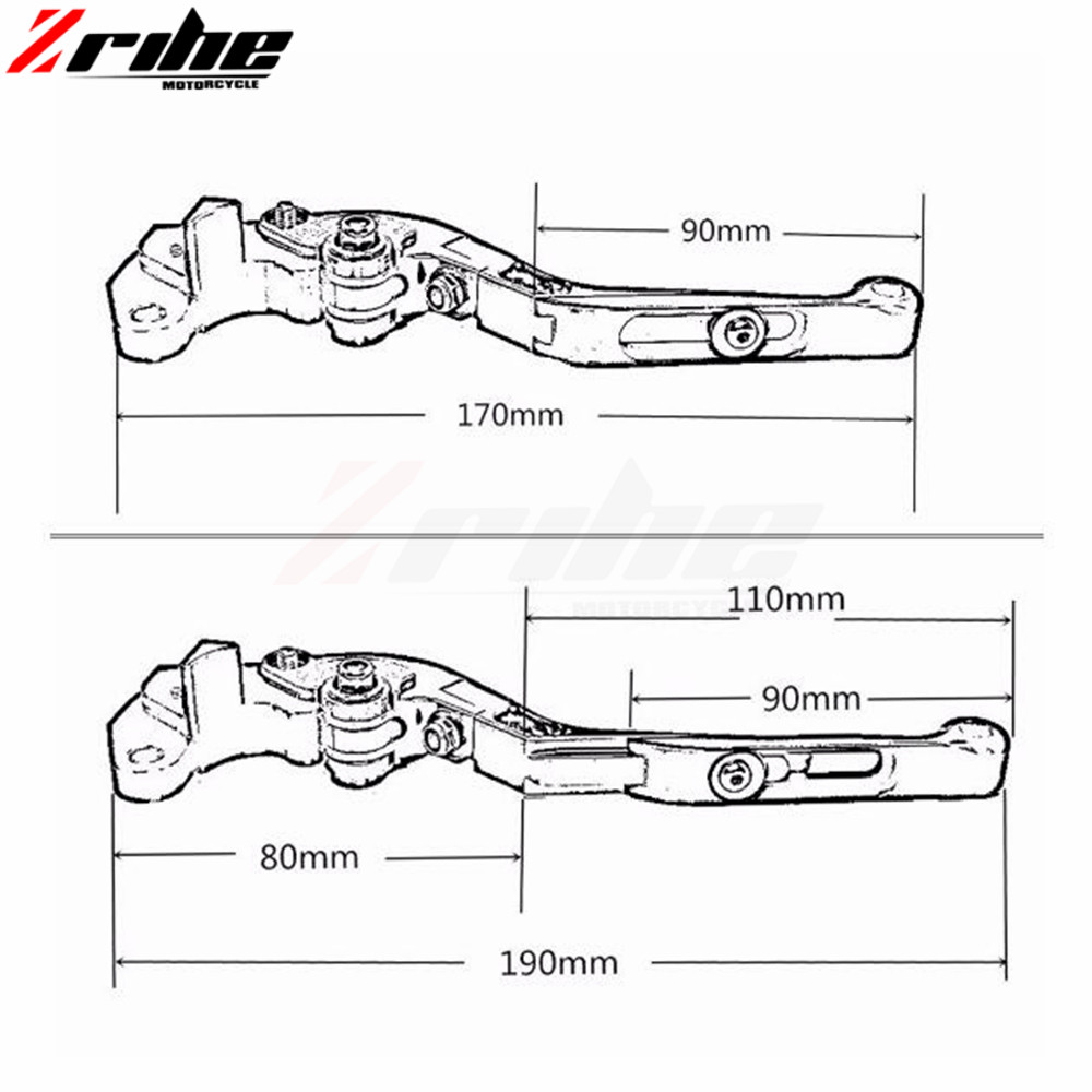 Adjustable Folding Extendable Motorcycle Brake Clutch Lever For HONDA CRF1000L CRF CRF1000 1000L 2015 2016 2017 Africa Twin 2015