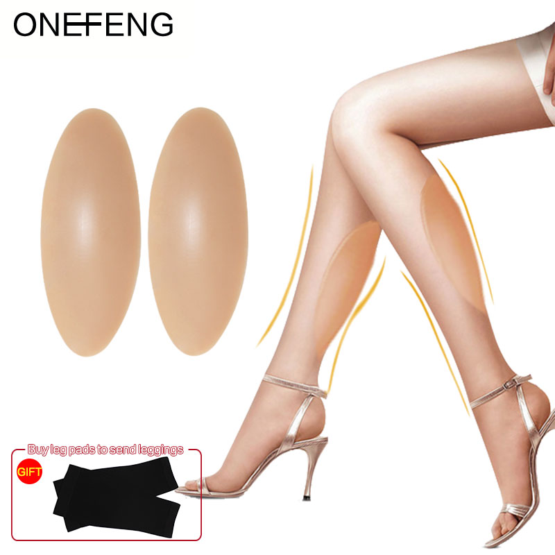 ONEFENG Silicone jambières Silicone mollet coussinets pour jambes tordues ou minces corps beauté usine approvisionnement Direct jambe Silicone