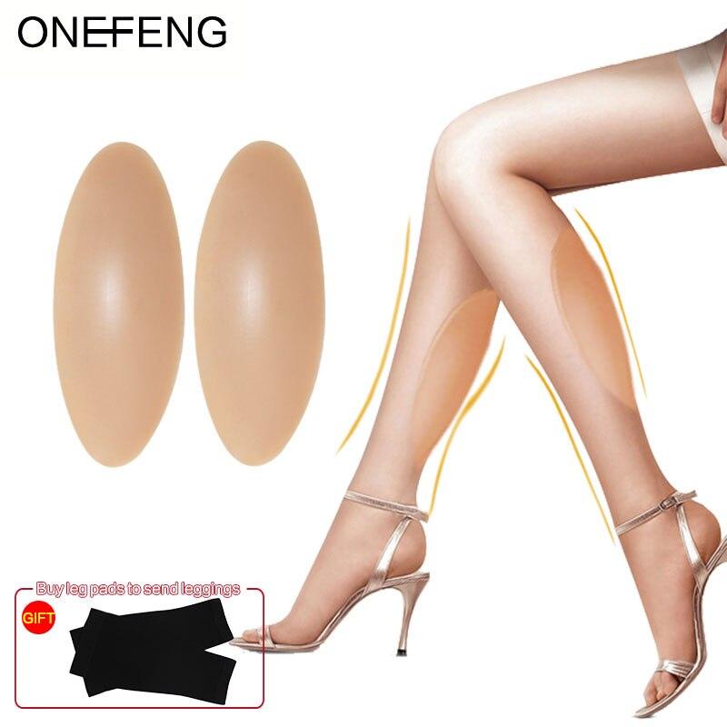 ONEFENG Silikon Bein Onlays Silikon Kalb Pads für Crooked oder Dünne Beine Körper Schönheit Fabrik Direkte Versorgung Bein Silikon