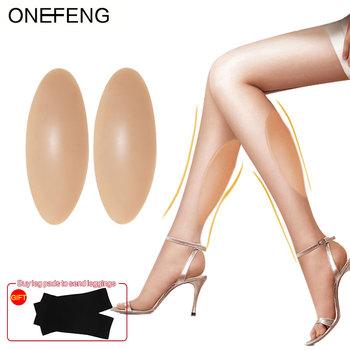 ONEFENG silikonowe nakładki na nogi silikonowe ochraniacze na łydki dla krzywe lub rurki ciało uroda fabryka bezpośrednie dostawy nogi silikonowe tanie i dobre opinie 100 silicone 1 pair 120g pair 180g pair 300g pair S M L Formularz piersi Silicone leg onlays Semitransparent lightskin skin brown black