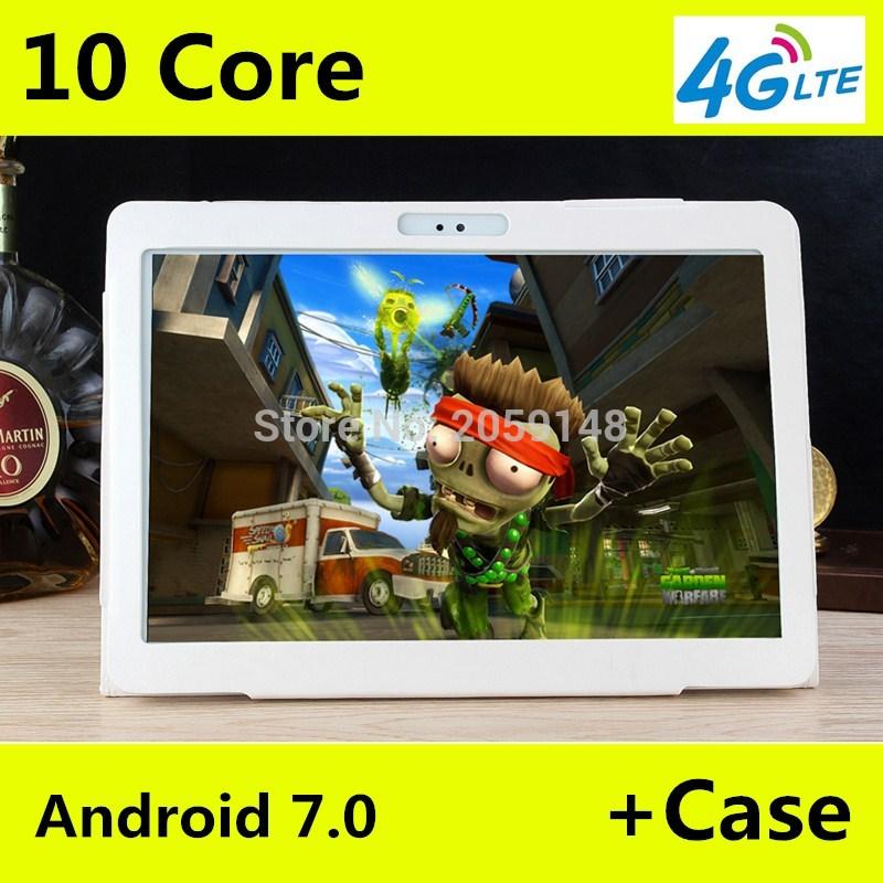 11.11 4g LTE T100 1920x1200 Android 7.0 Tablet PC Tab 10.1 pollice IPS Deca Core 4 gb + 64 gb Dual SIM Card Chiamata di Telefono 10.1