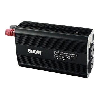 DC 12V a AC 110V potencia del coche del vehículo potencia del inversor 100W 2.1A doble puerto USB inversores de coche US enchufe adaptador cargador de corriente
